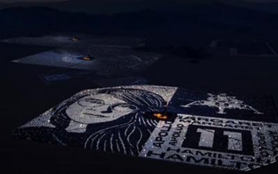 107.000 espejos reflejan la luz de la Luna en homenaje a Margaret Hamilton, la desarrolladora del programa de computación que llevó el hombre a la Luna hace 50 años.